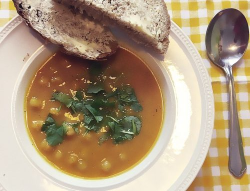 Sweet potato and cannellini soup
